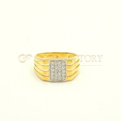 9ct Yellow Gold Gents Ring