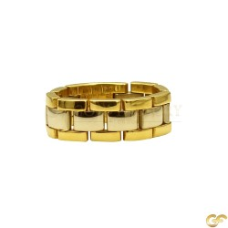 18ct Two Tone Gold Ring
